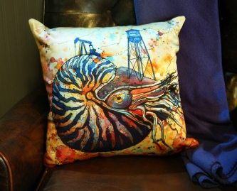 Nautilus Pillow for etsy